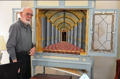 John Shortridge with pipe organ